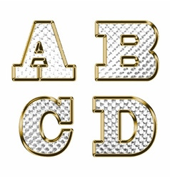 English alphabet gold vector