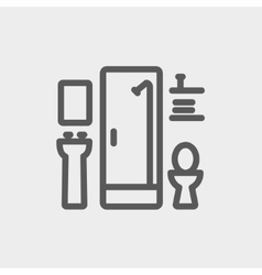 Bathroom thin line icon vector
