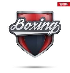 Premium symbol of boxing label vector