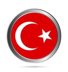 Turkey flag button vector
