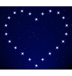 Heart constellation vector