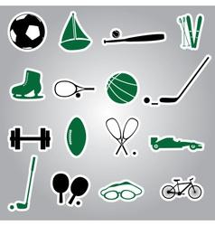 Sport equipment stickers eps10 vector