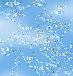 Creative map of europe vector