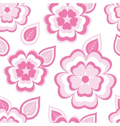 Texture seamless pattern with sakura and leaf vector