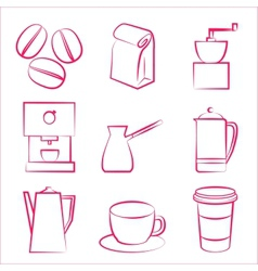 Coffe icons vector