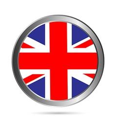 Uk flag button vector