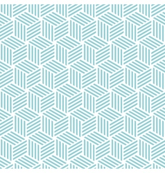Stripe cube pattern background blue green vector