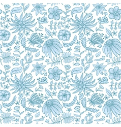 Floral blue vector