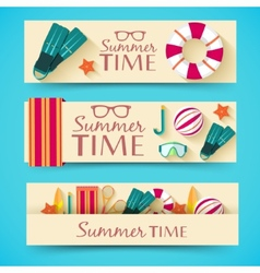 Summer vecetion time background concept vector