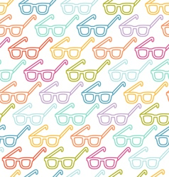 Glasses pattern vector