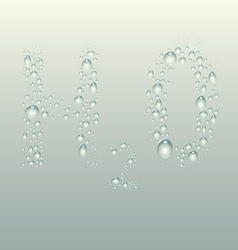H2o wet droplets over glass vector