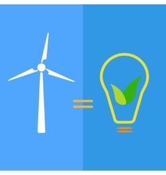 Wind turbine as eco-friendly source of energy vector