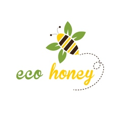 Bee eco honey vector
