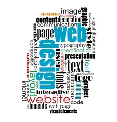 Tag cloud for web and internet design vector