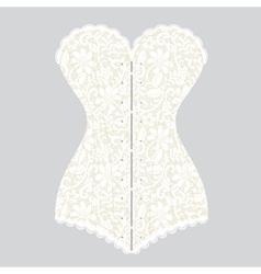 White lace corset corset vector