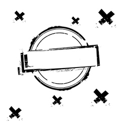 Black rubber stamp on white vector