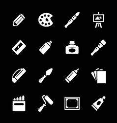 Set icons of art vector