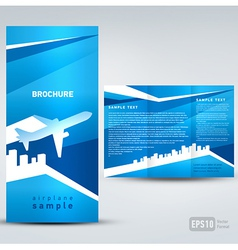 Brochure airplane vector