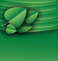 Leaves template green document layout vector
