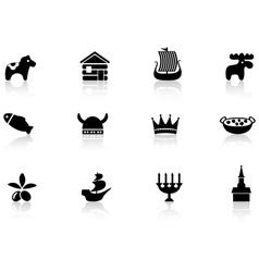Swedish icons vector
