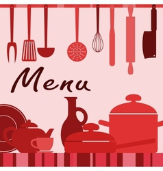 Kitchenware and cooking process vector