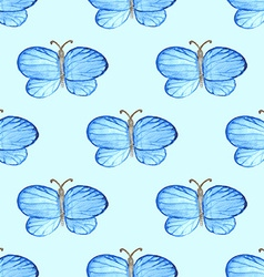 Watercolor butterfly in vintage style vector