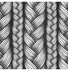 Gray abstract seamless hair pattern vector