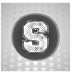 The letter s sport style vector