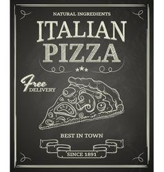 Pizzapostervs vector