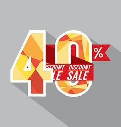 Discount 40 percent off vector
