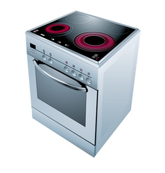 Electric cooker oven vector