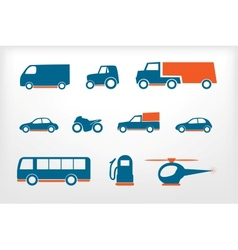 Icons set vehicles vector