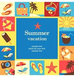 Summer vacation frame vector