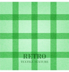 Retro textile background with green stripes vector