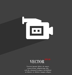 Video camera icon symbol flat modern web design vector