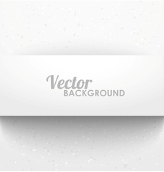 Paper rectangle banner with drop shadows vector