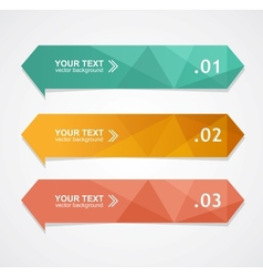 Colorful text box vector