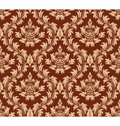 Damask pattern vector