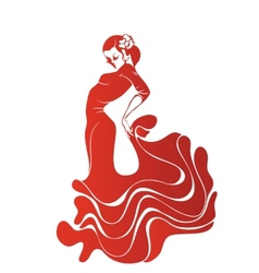 Young passionate woman dancing flamenco vector