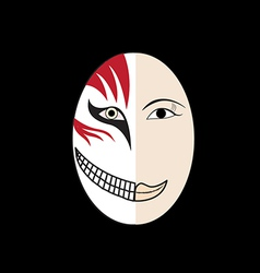 Halloween mask vector