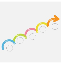 Colorful timeline infographic upwards arrow screw vector