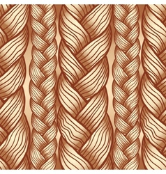 Beige abstract seamless hair pattern vector