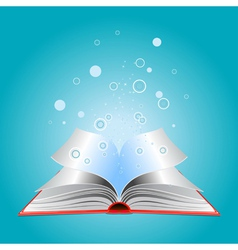 Opened book with particles vector
