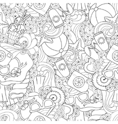 Seamless pattern of original doodle hearts vector