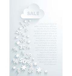 Background for seasonal promo actions vector