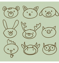 Artistic animals vector
