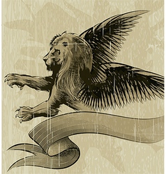 The winged lion vector