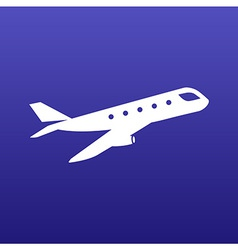 Airplane plane symbol travel icon vector