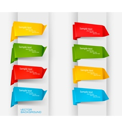 Big collection of colorful origami paper banners a vector