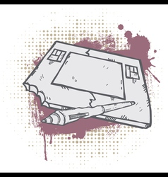 Grunge graphic tablet vector